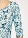 Платье трикотажное облегающего силуэта oodji #SECTION_NAME# (зеленый), 14001121-4B/46943/6579U - вид 5