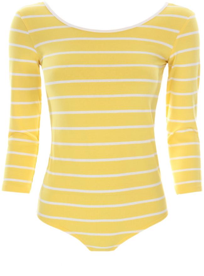 Трикотажная блузка oodji для женщины (желтый), 15A00001/45418/5110S