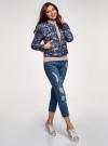 Куртка стеганая с круглым вырезом oodji для женщины (синий), 10203072B/42257/7919F - вид 6
