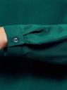 Блузка вискозная базовая oodji #SECTION_NAME# (зеленый), 11411135-3B/26346/6E00N - вид 5