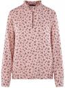 Блузка свободного силуэта из струящейся ткани oodji #SECTION_NAME# (розовый), 11400454/42540/4029F