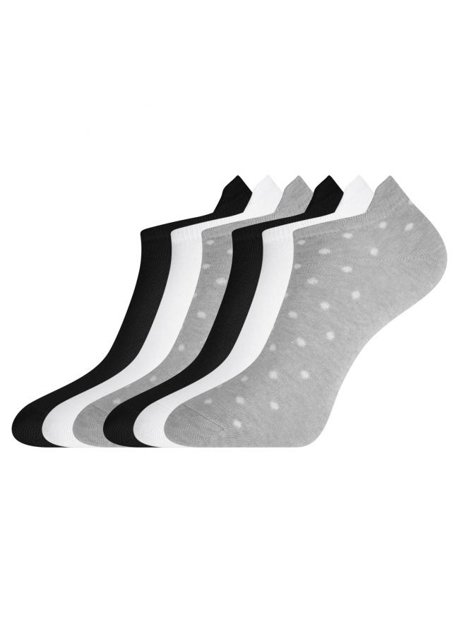 Комплект укороченных носков (6 пар) oodji для женщины (разноцветный), 57102606-1T6/49129/21