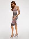 Платье-майка трикотажное oodji #SECTION_NAME# (разноцветный), 14015007-3B/37809/4129E - вид 6