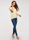 Блузка из вискозы с нагрудными карманами oodji #SECTION_NAME# (желтый), 11400391-4B/24681/5000N - вид 6
