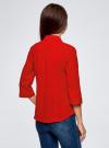 Блузка из струящейся ткани с нагрудными карманами oodji #SECTION_NAME# (красный), 11403225-6B/48853/4500N - вид 3