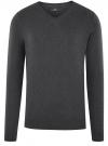 Пуловер базовый с V-образным вырезом oodji для мужчины (серый), 4B212007M-1/34390N/2500M