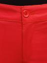 Брюки-чиносы хлопковые oodji для женщины (красный), 11706207B/32887/4501N