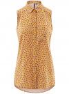 Топ вискозный с рубашечным воротником oodji #SECTION_NAME# (желтый), 14911009B/26346/5743E