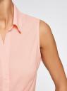 Рубашка базовая без рукавов oodji #SECTION_NAME# (розовый), 11405063-6/45510/4000N - вид 5