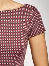 Платье трикотажное принтованное oodji для женщины (красный), 14001117-7/16564/4912G - вид 5