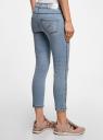 Капри джинсовые с потертостями oodji для женщины (синий), 12105016/45253/7500W