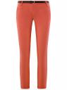 Брюки-чиносы хлопковые oodji для женщины (оранжевый), 11706193B/42841/4B01N