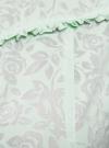Блузка из ткани деворе oodji #SECTION_NAME# (зеленый), 11405092-4/26528/6500N - вид 5