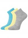 Комплект из трех пар ажурных носков oodji #SECTION_NAME# (разноцветный), 57102709-1T3/49650/10 - вид 2