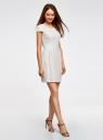Платье трикотажное кружевное oodji #SECTION_NAME# (белый), 14001154-2/42644/1200N - вид 6