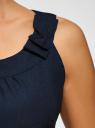 Топ с декоративным бантом oodji для женщины (синий), 11403152-5/31427/7900N