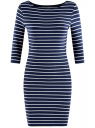 Платье трикотажное базовое oodji #SECTION_NAME# (синий), 14001071-2B/46148/7910S