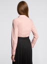 Рубашка базовая из хлопка oodji #SECTION_NAME# (розовый), 11403227B/14885/4000N - вид 3