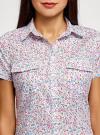 Рубашка хлопковая с нагрудными карманами oodji #SECTION_NAME# (слоновая кость), 11402084-3B/12836/1241F - вид 4