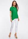 Блузка из вискозы с нагрудными карманами oodji #SECTION_NAME# (зеленый), 11400391-3B/24681/6B00N - вид 6