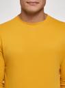 Свитшот базовый хлопковый oodji #SECTION_NAME# (желтый), 5B113002M/46738N/5204N - вид 4