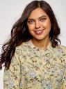 Блузка вискозная А-образного силуэта oodji #SECTION_NAME# (желтый), 21411113-1B/48458/5070F - вид 4