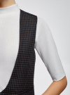 Жилет классический с декоративными карманами oodji #SECTION_NAME# (синий), 12300102/22124/7937C - вид 5