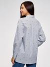 Рубашка хлопковая oversize oodji #SECTION_NAME# (белый), 13K11012-1/46807/1079S - вид 3
