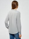 Блузка базовая из вискозы oodji #SECTION_NAME# (серый), 11411136B/26346/2000N - вид 3