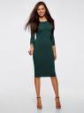 Платье облегающее с вырезом-лодочкой oodji #SECTION_NAME# (зеленый), 14017001-6B/47420/6900N - вид 2