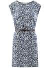 Платье принтованное из вискозы oodji #SECTION_NAME# (синий), 11910073-2/45470/7912F - вид 6