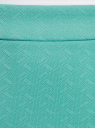 Юбка-карандаш из фактурной ткани oodji #SECTION_NAME# (бирюзовый), 14101088-1/42588/7300N - вид 4