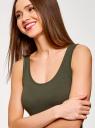 Майка базовая oodji для женщины (зеленый), 24315001B/46147/6800N