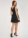 Платье принтованное с бантом на спине oodji #SECTION_NAME# (черный), 11900181/35271/2910D - вид 3