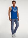 Джинсы базовые slim oodji для мужчины (синий), 6B120039M/45068/7400W