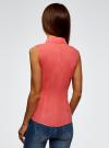 Рубашка базовая без рукавов oodji #SECTION_NAME# (розовый), 11405063-4B/45510/4D00N - вид 3