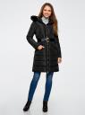 Пальто утепленное с ремнем oodji #SECTION_NAME# (черный), 20204055/45934/2900N - вид 2