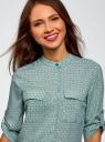Блузка вискозная с нагрудными карманами oodji #SECTION_NAME# (зеленый), 11403225-7B/42540/6910G - вид 4