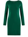 Платье трикотажное облегающего силуэта oodji для женщины (зеленый), 14001183B/46148/6E00N