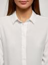 Блузка базовая из вискозы oodji #SECTION_NAME# (белый), 11411136B/26346/1200N - вид 4