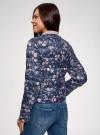 Куртка стеганая с круглым вырезом oodji для женщины (синий), 10203072B/42257/7919F - вид 3