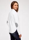 Рубашка хлопковая прямого силуэта oodji #SECTION_NAME# (белый), 11403204/36217/1000N - вид 3