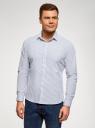 Рубашка приталенная из хлопка oodji #SECTION_NAME# (белый), 3L110364M/49093N/1075S - вид 2