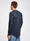 Рубашка льняная без воротника oodji #SECTION_NAME# (синий), 3B320002M/21155N/7900N - вид 3