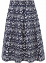 Юбка миди со встречными складками oodji для женщины (синий), 21600300/42728/7912E