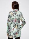 Пальто приталенное с косой застежкой oodji #SECTION_NAME# (бирюзовый), 10104044/45367/7047F - вид 3
