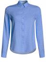 Блузка базовая из вискозы oodji #SECTION_NAME# (синий), 11411136B/26346/7510D
