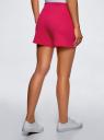 Шорты хлопковые с вышивкой  oodji #SECTION_NAME# (розовый), 17000025-1/48434/4700P - вид 3
