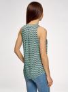 Топ базовый из вискозы oodji для женщины (зеленый), 14911008-1B/48756/6529O - вид 3