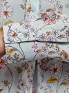 Блузка вискозная А-образного силуэта oodji #SECTION_NAME# (синий), 21411113-1B/48458/6543F - вид 5